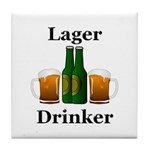 Lager Drinker Tile Coaster