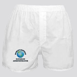 World's Happiest Database Administrat Boxer Shorts