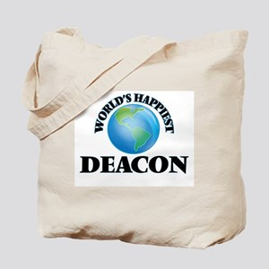 World's Happiest Deacon Tote Bag