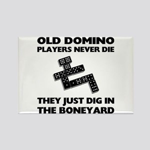 Domino Players Never Die Rectangle Magnet