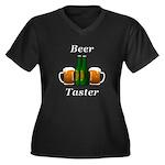 Beer Taster Women's Plus Size V-Neck Dark T-Shirt