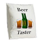Beer Taster Burlap Throw Pillow