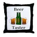 Beer Taster Throw Pillow