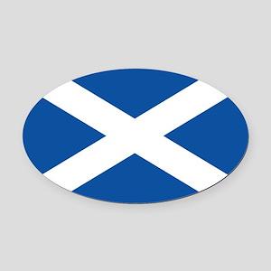 Scotland Flag Oval Car Magnet