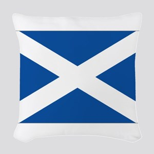Scotland Flag Woven Throw Pillow
