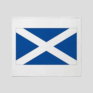 Scotland Flag Throw Blanket
