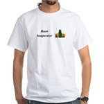 Beer Inspector White T-Shirt