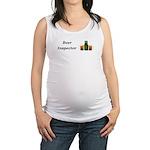 Beer Inspector Maternity Tank Top