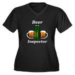 Beer Inspect Women's Plus Size V-Neck Dark T-Shirt