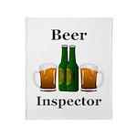 Beer Inspector Throw Blanket