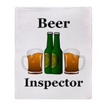 Beer Inspector Throw Blanket
