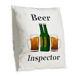 Beer Inspector Burlap Throw Pillow