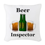 Beer Inspector Woven Throw Pillow