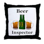 Beer Inspector Throw Pillow