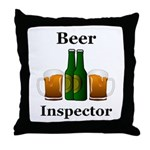 Beer Inspector Throw Pillow