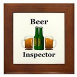Beer Inspector Framed Tile