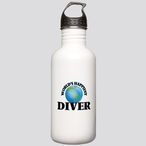 World's Happiest Diver Stainless Water Bottle 1.0L