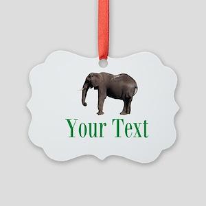 Personalizable Elephant Ornament