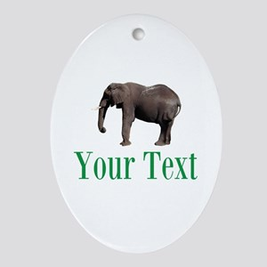 Personalizable Elephant Ornament (Oval)