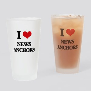I Love News Anchors Drinking Glass