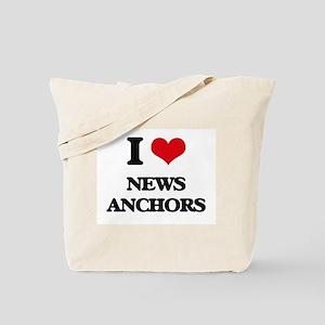 I Love News Anchors Tote Bag