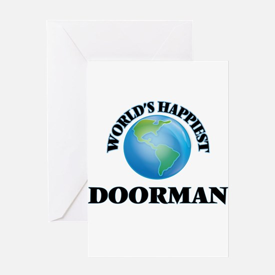 World's Happiest Doorman Greeting Cards