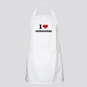 I Love Newspapers Apron
