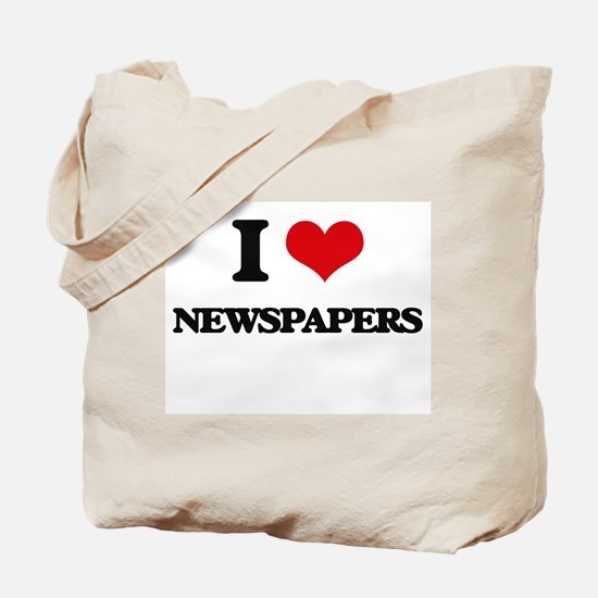 I Love Newspapers Tote Bag
