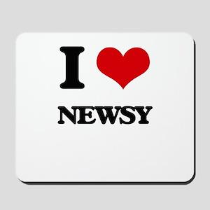 I Love Newsy Mousepad
