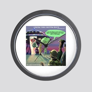 Spaced-Out Vegan Wall Clock