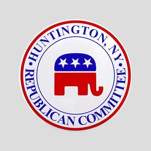 "Huntington Gop 3.5"" Button"