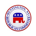 "Huntington Gop 3.5"" Button"