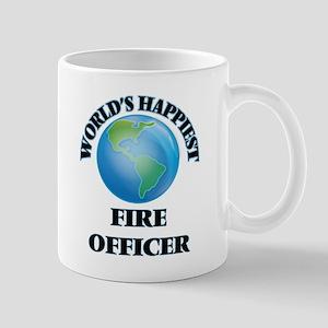 World's Happiest Fire Officer Mugs