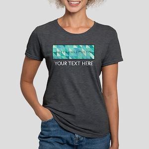 Delta Phi Epsilon Geometr Womens Tri-blend T-Shirt