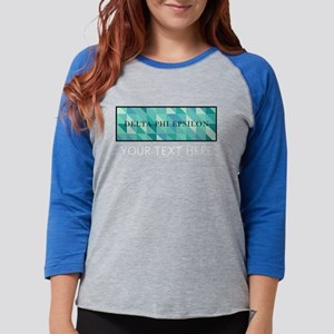 Delta Phi Epsilon Geometric Pe Womens Baseball Tee