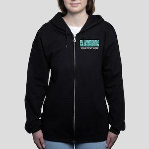 Delta Phi Epsilon Geometric Per Women's Zip Hoodie