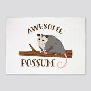 Awesome Possum 5'x7'Area Rug