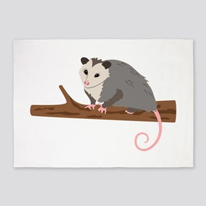 Opossum on Branch 5'x7'Area Rug
