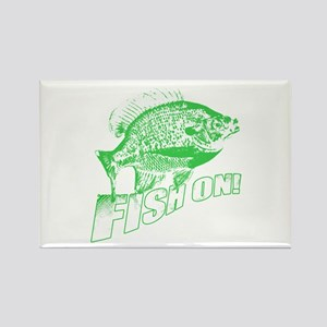 Bluegill Fish on Green Rectangle Magnet