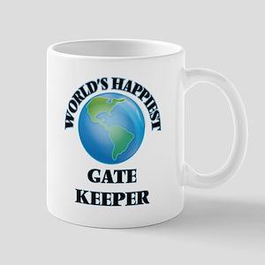 World's Happiest Gate Keeper Mugs