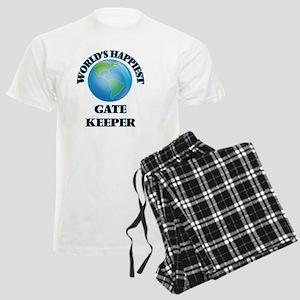 World's Happiest Gate Keeper Men's Light Pajamas