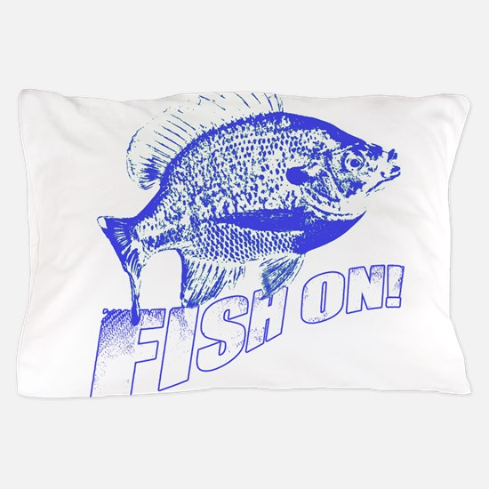 Bluegill Fish on blue Pillow Case
