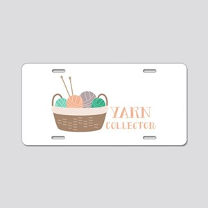 Yarn Collector Aluminum License Plate