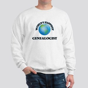 World's Happiest Genealogist Sweatshirt