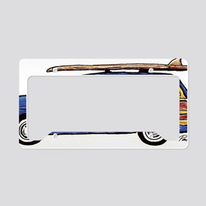 Dark Blue Woody License Plate Holder