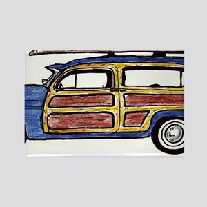 Dark Blue Woody Rectangle Magnet