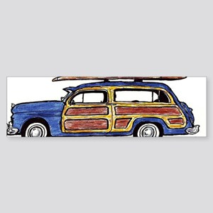 Dark Blue Woody Sticker (Bumper)