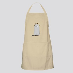 Giraffe dressed up as Ghost Apron