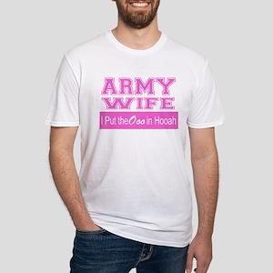 Army Wife Ooo in Hooah_Pink T-Shirt