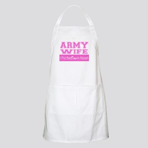 Army Wife Ooo in Hooah_Pink Apron